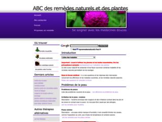 ABC des remèdes naturels et des plantes sur http://topremedesnaturels.free.fr
