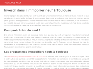 L'immobilier neuf à Toulouse