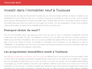 L'immobilier neuf à Toulouse