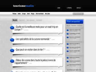 Capture du site http://www.tourisme-malin.fr/