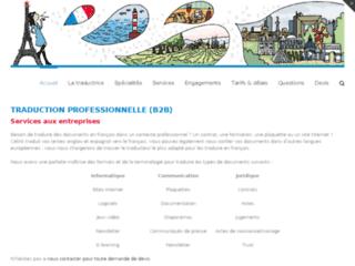 Capture du site http://www.traducteur-francais.fr