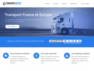 Capture du site http://www.transportroutier.fr
