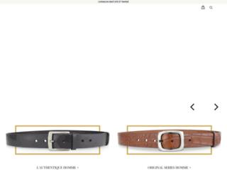 Détails : ceinture cuir: Tribu-Cuir