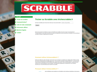 Tricher au scrabble sur trichescrabble.fr