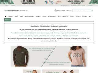 Capture du site http://www.tshirt-personnalisation.fr