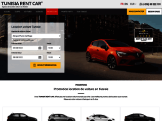 Capture du site http://www.tunisia-rent-car.com