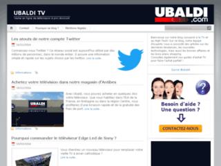 Capture du site http://www.ubaldi-tv.fr/