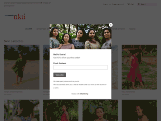 Shalimar Blockprint Knotted Slip Top Online - Slip Top Online India