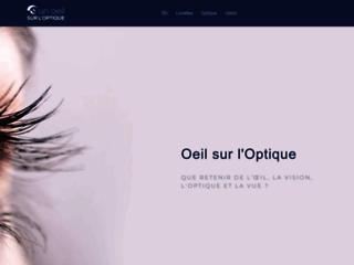 Capture du site http://www.un-oeil-sur-l-optique.fr