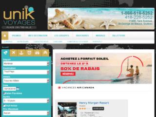 Détails : Unik Voyages, votre agence de voyages tout inclus