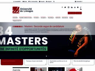 Faculté de médecine de Limoges sur http://www.unilim.fr/medecine/