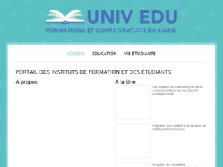 Aperçu du site Univ Edu