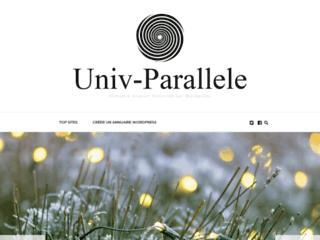 Capture du site http://www.univ-parallele.com/