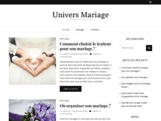 Détails : Univers Mariage : tout pour réussir son mariage