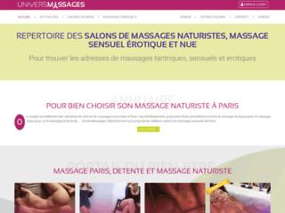 Universmassages.fr : Portail pour les massages naturistes