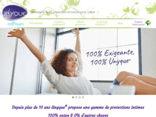 Protections féminines en coton Unyque gamme complète pour femme