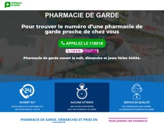 Détails : Trouver une pharmacie de garde non loin de chez soi