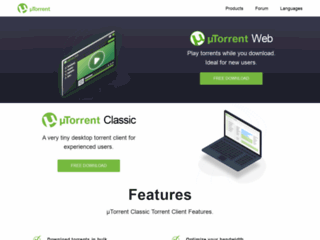 µTorrent - Il Client BitTorrent leggero e veloce - scarica uTorrent