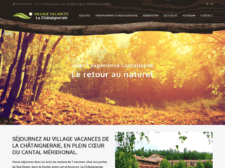 Capture du site http://www.vacances-chataigneraie.com