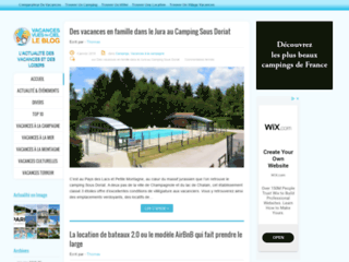 Capture du site http://www.vacancesvuesdublog.fr