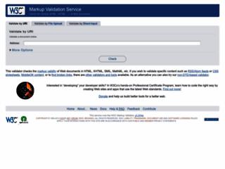 Servizio di Validazione W3C Markup