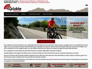 Capture du site http://www.velo-annecy.fr
