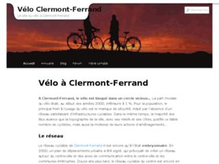 Capture du site http://www.velo-clermont-ferrand.fr/