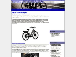 Capture du site http://www.velo-electrique-vae.info