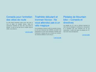 Capture du site http://www.velo-route.info