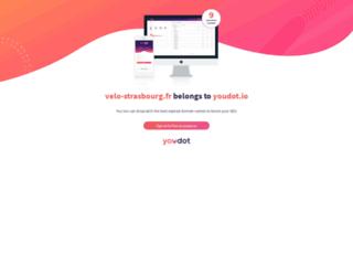 Capture du site http://www.velo-strasbourg.fr/