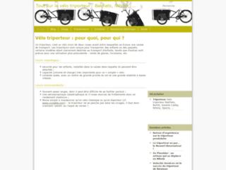 Capture du site http://www.velo-triporteur.info