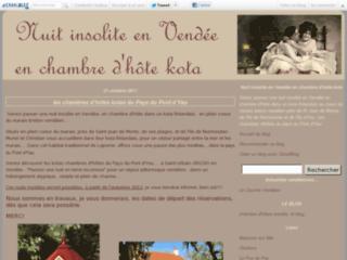 Capture du site http://vendeehotekota.canalblog.com/