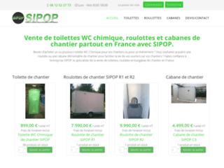 Détails : La boutique en ligne des toilettes et cabanes pour chantier