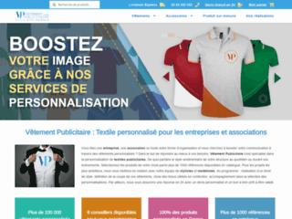 Vêtement publicitaire personnalisé brodé ou imprimé avec logo pour entreprises et associations