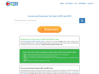 Video To MP3 : Convertisseur de vidéos Youtube en MP3 & MP4