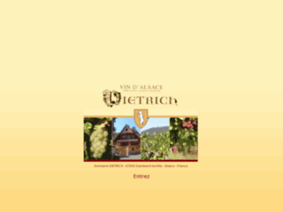 Michel DIETRICH - Vins Fins d'Alsace -week end oenologique à  Dambach-la-Ville