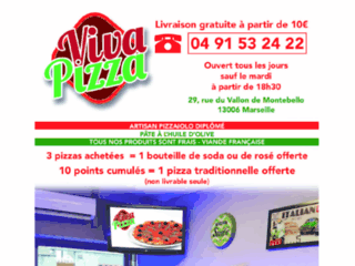 Viva Pizza livraison à domicile pizzeria Marseille