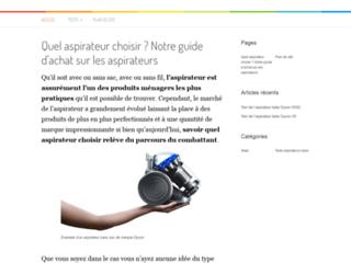 Aperçu du site Votre aspirateur