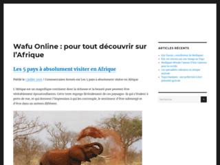 Détails : Wafu Online, site d'actualités sur l'Afrique