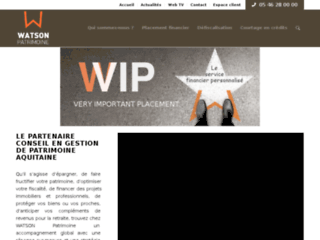 Placement, crédit et défiscalisation - WATSON Patrimoine Aquitaine