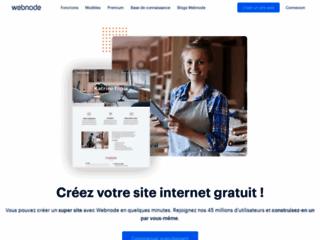 Capture du site http://www.webnode.fr
