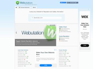 Webutation.net - Calcola il punteggio della reputazione dei siti internet