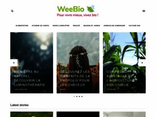 Vente de produits de beauté bio sur http://www.weebio.fr