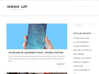 Aperçu du site Weekup