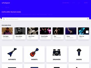 Détails : Whatgear, guide d'information sur les instruments de musique des artistes musiciens