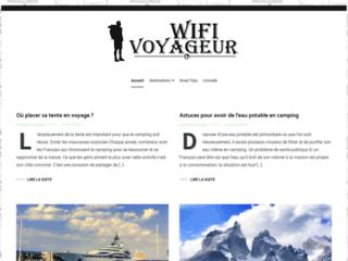 Aperçu du site Wifi voyageur