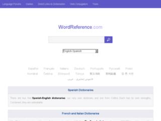 Aperçu du site Wordreference