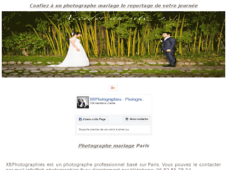 Capture du site http://www.xb-photographies.fr