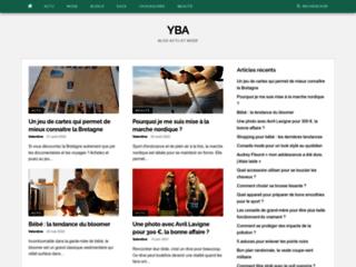 Aperçu du site YBA