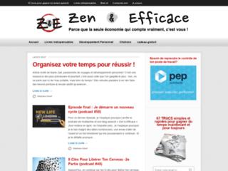 Capture du site http://www.zen-et-efficace.com